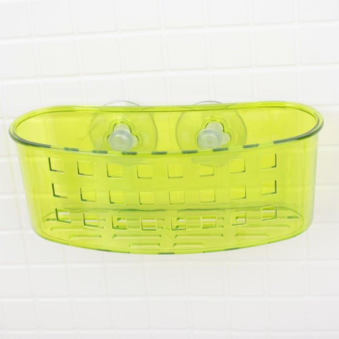 Держатель для ванных принадлежностей на присосках, микс цвета