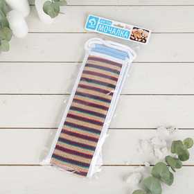 Мочалка-лента для тела длинная, 60 см, цвета МИКС - фото 4651748