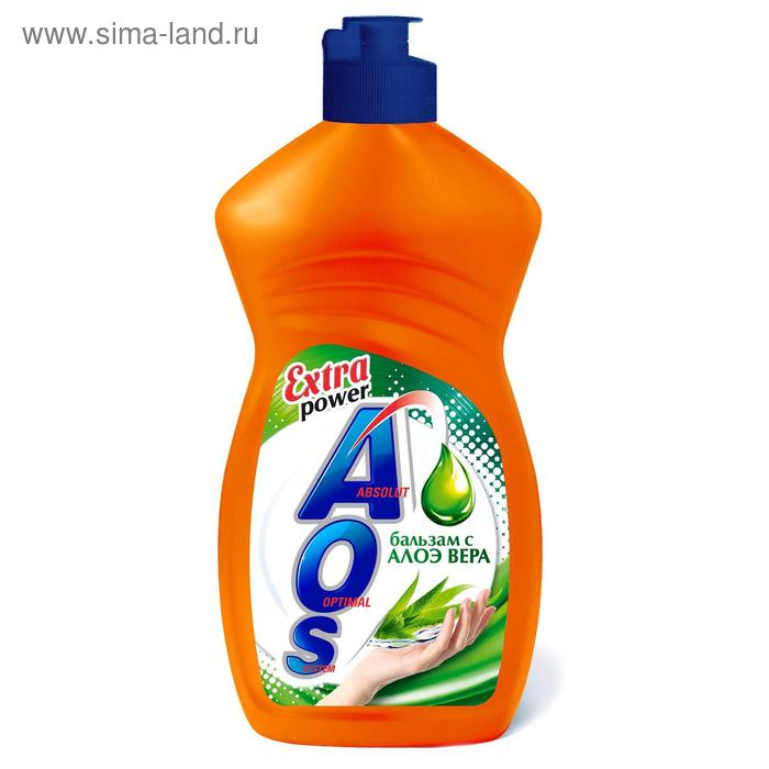 "Средство для мытья посуды AOS ""Бальзам Алое Вера"", 500 мл"
