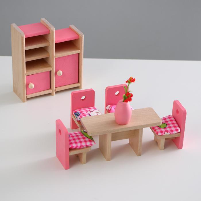 """Мебель кукольная """"Столовая"""", 8 предметов"""
