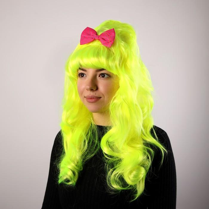 карнавал парик длинные локоны лимонного цвета