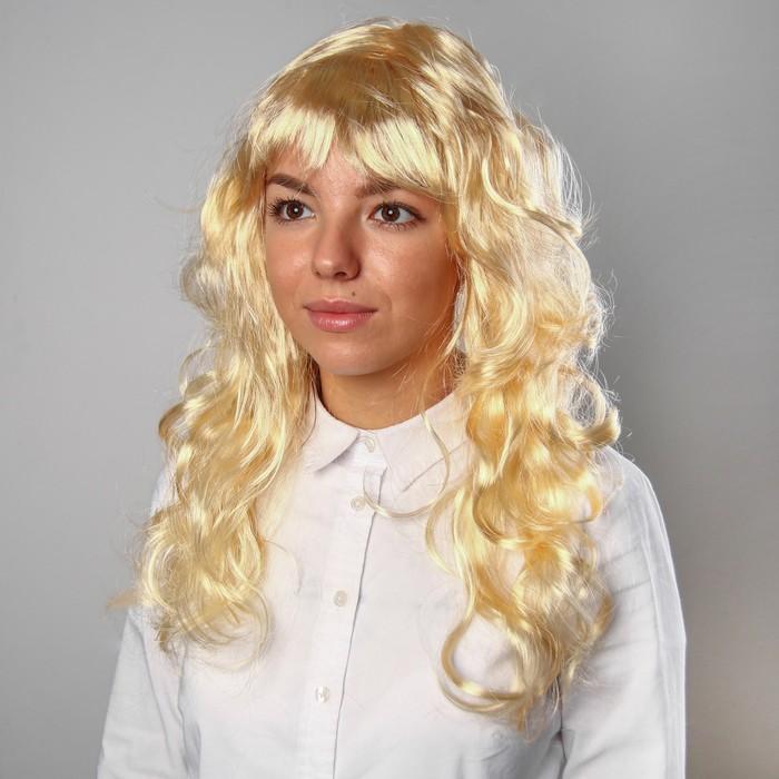 """Карнавальный парик """"Блондинка"""", кудри, 120 г"""