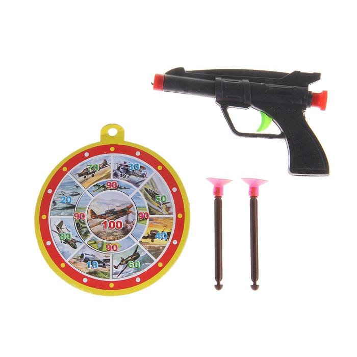 """Пистолет """"Рок"""", с мишенью, стреляет присосками"""