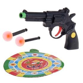 """Пистолет """"Револьвер"""", с мишенью, стреляет присосками"""
