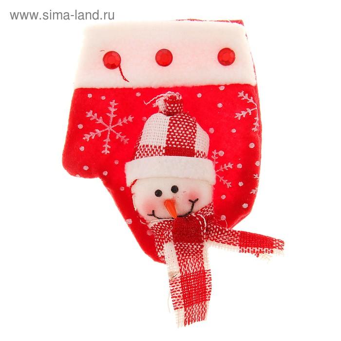 """Варежка для подарка """"Снеговик"""" (снегопад)"""