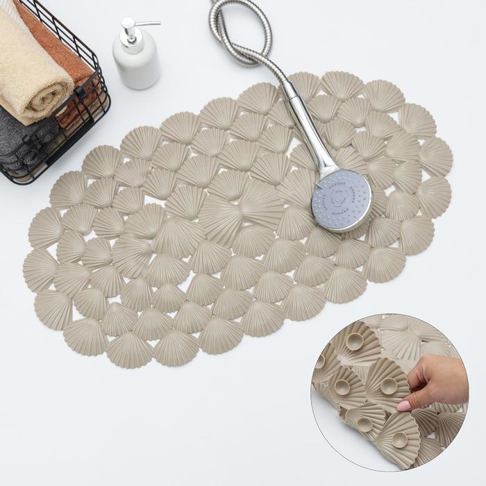 Коврик для ванны Доляна «Ракушки», 38×68 см, цвет МИКС