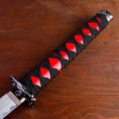 Сувенирное оружие «Катана на подставке», красные ножны, 103см