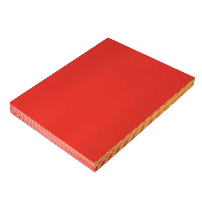 Бумага формат А4 100 л 80 г/м самоклеящаяся флуоресцентная красная