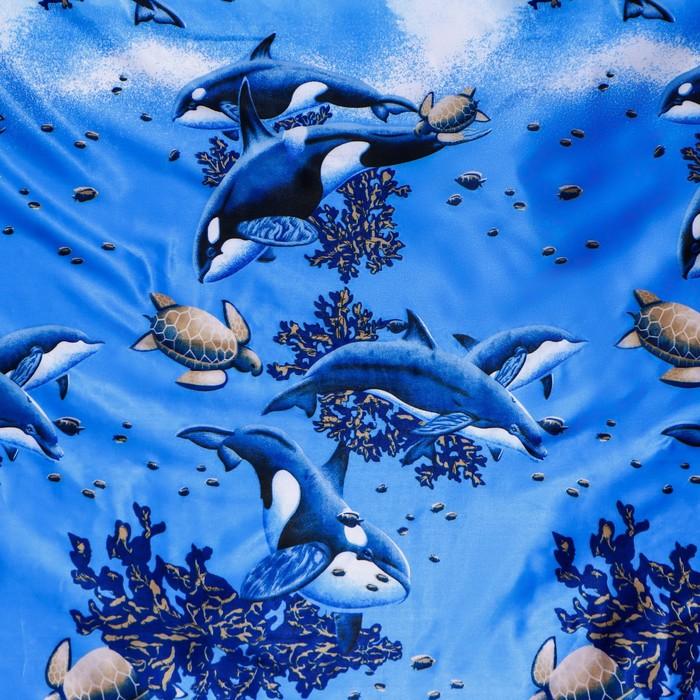 Штора для ванной «Морская», 180 × 170 см, полиэстер