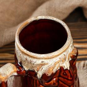 """Бокал """"Рак"""", коричневый, пена, керамика, 0.9 л - фото 7276092"""