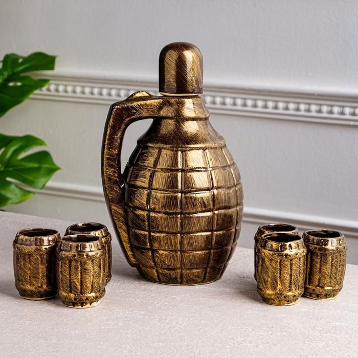 """Штоф с рюмками """"Граната"""", 7 предметов, 1,7 л"""