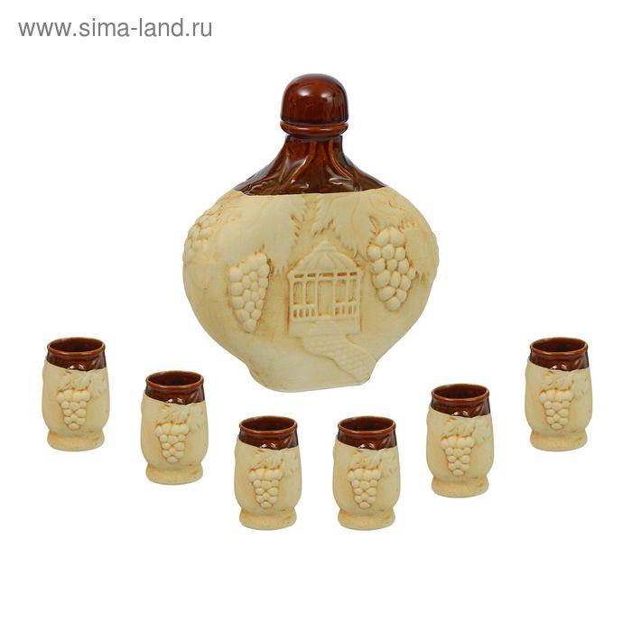 "Штоф с рюмками ""Виноград"", 7 предметов, 1,55 л"