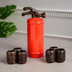 """Набор для вина """"Огнетушитель"""", 7 предметов в наборе, 1,1 л/0,1 мл, микс"""