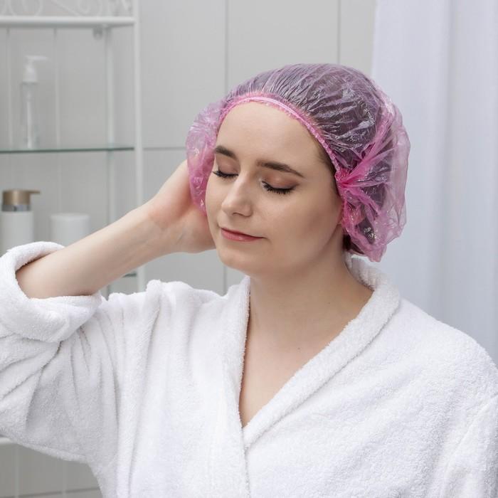 Набор шапочек для душа, 3 шт, полиэтилен, цвета МИКС