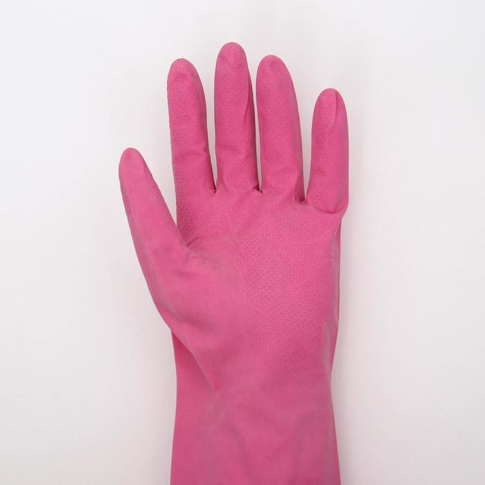 Перчатки латексные, размер L, цвет МИКС