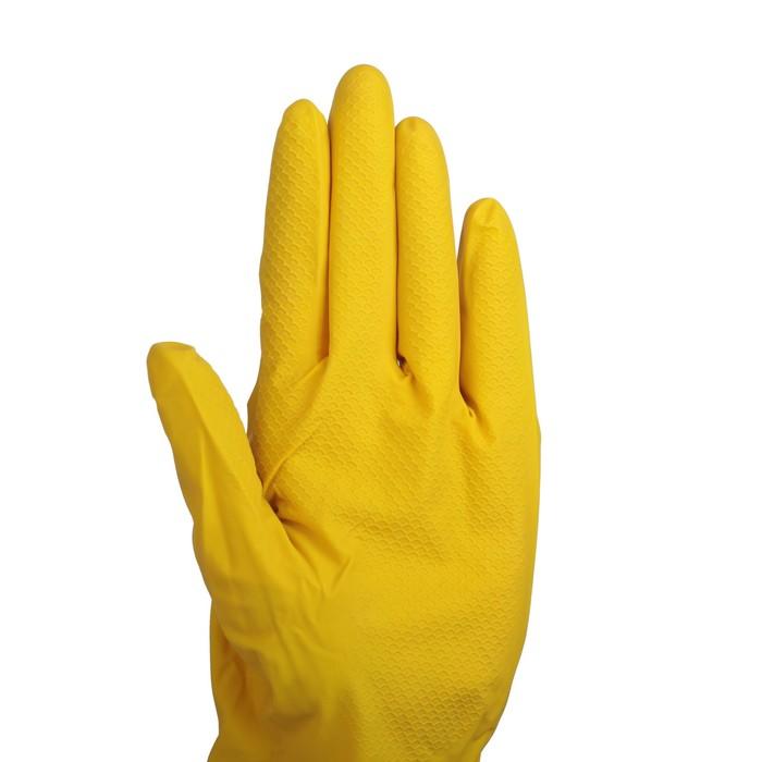 Перчатки латексные размер M, цвет МИКС