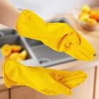 Перчатки хозяйственные латексные, прочные, размер XL, 40 гр, цвет МИКС