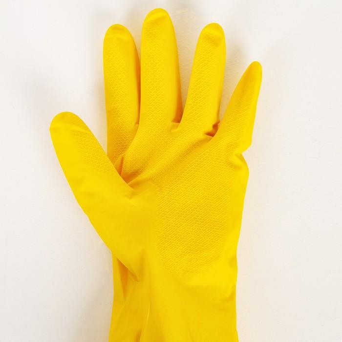 Перчатки латексные, размер XL, цвет МИКС