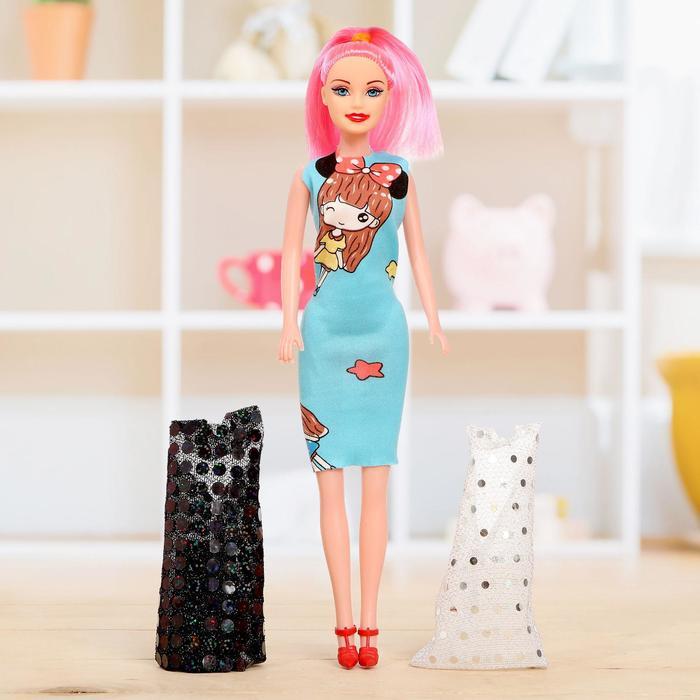"""Кукла модель """"Джесика"""" с платьями, МИКС"""