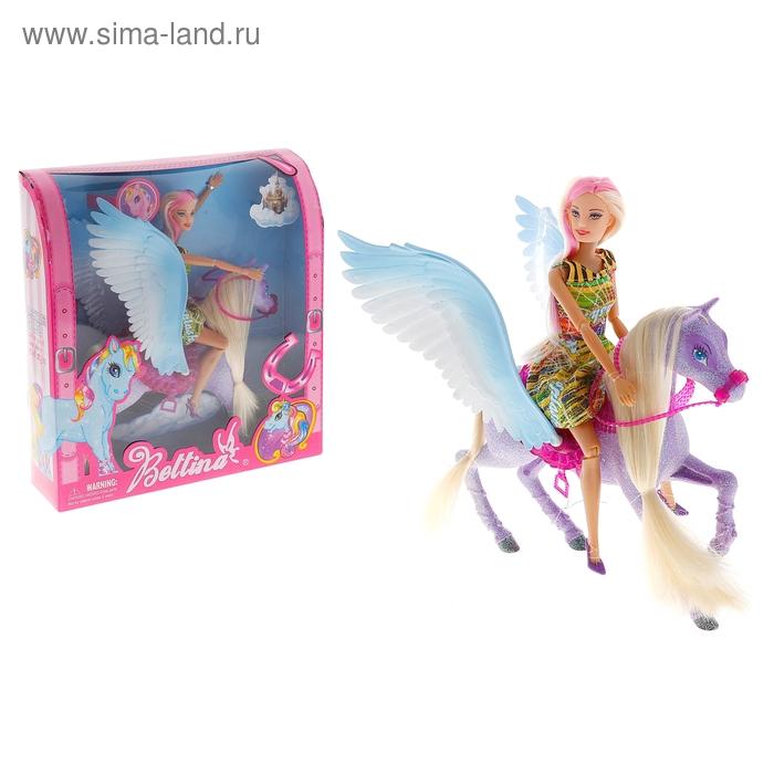 Кукла шарнирная и лошадь с крыльями, МИКС