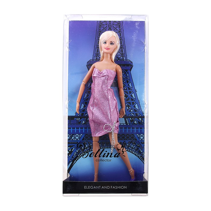 Кукла модная шарнирная «Лея в Париже» в платье