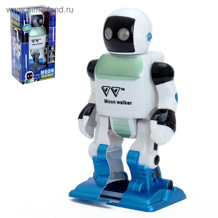 """Робот """"Лунатик"""", работает от батареек, световые эффекты"""