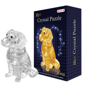 "3D crystal puzzle, ""Spaniel"" 41 detail, MIX colors"