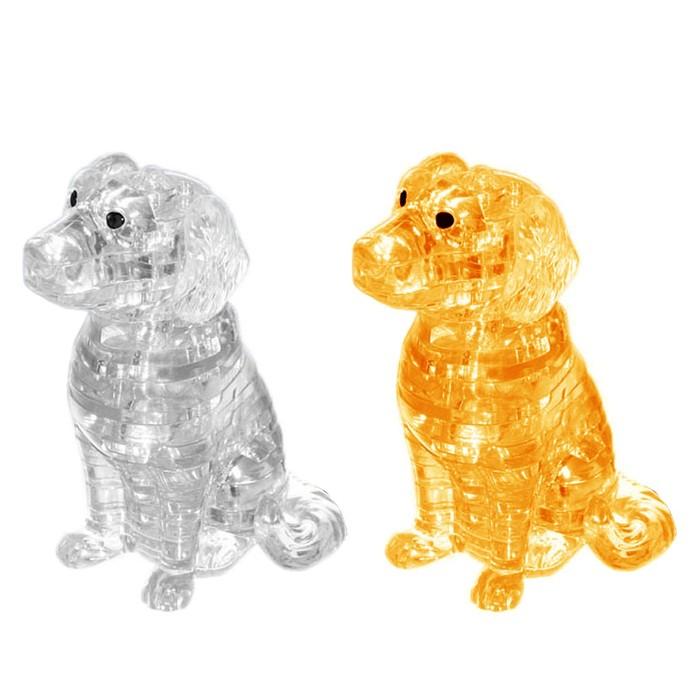 """Пазл 3D кристаллический, """"Спаниель"""" 41 деталь, цвета МИКС"""