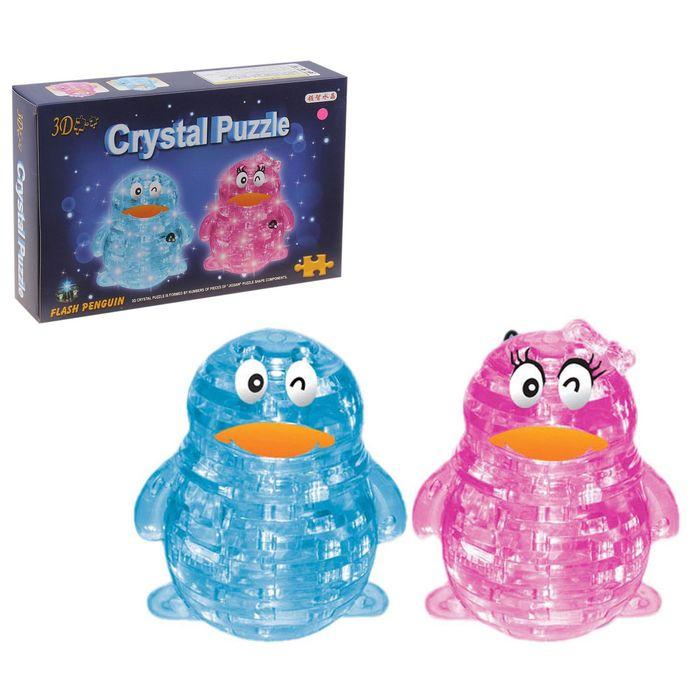 Пазл 3D кристаллический «Пингвин», 62 детали, цвета МИКС