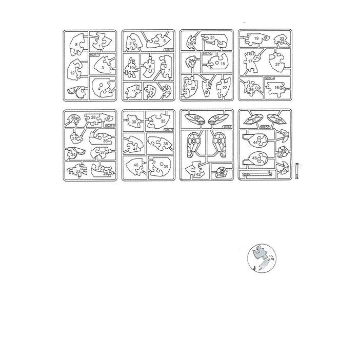 "Пазл 3D кристаллический, ""Заяц"", 56 детелей, цвета МИКС"