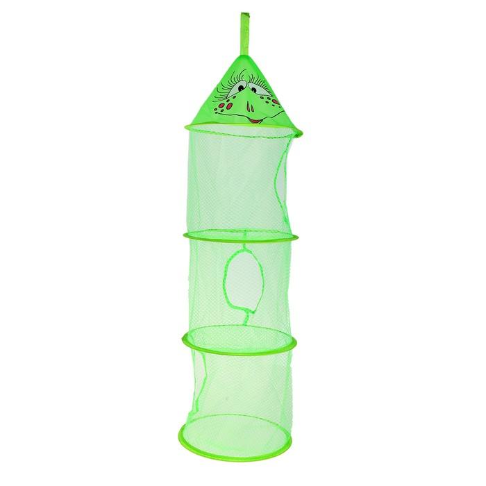 """Корзина для игрушек подвесная """"Лягушка"""", 3 отделения, цвет зеленый"""