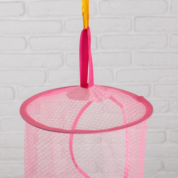 Корзина для игрушек подвесная, 5 отделений, цвета МИКС