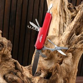 Нож швейцарский 7в1 красный