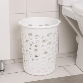 Корзина для мусора «Сорренто», 12 л, цвет белый