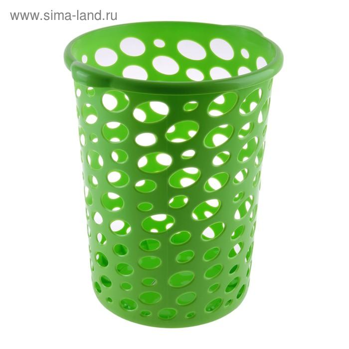 """Корзина для мусора 12 л """"Сорренто"""", цвет зеленый"""