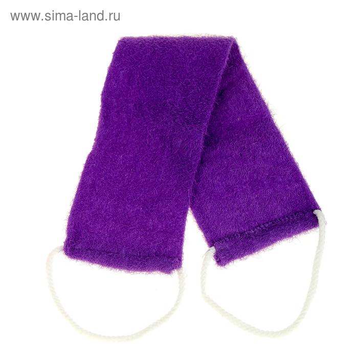 Мочалка-лента массажная жесткая, однотонная, цвет МИКС