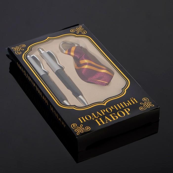 Набор подарочный 4в1 (2 ручки, нож 3в1, брелок-галстук) микс - фото 8873572