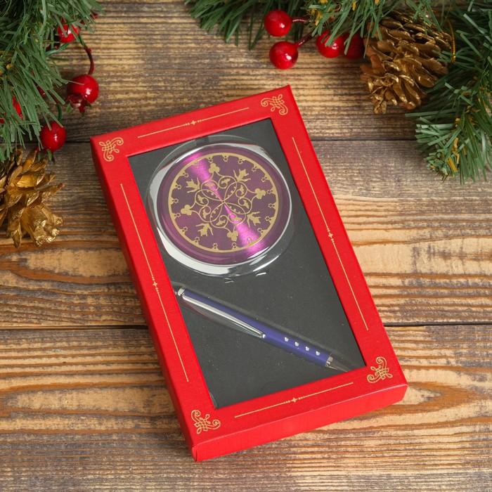 Набор подарочный 2в1 (ручка, зеркало) микс