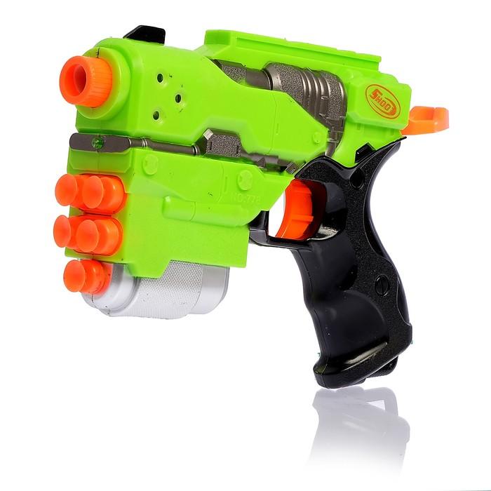 """Пистолет """"Штурм"""" стреляет мягкими пулями, световые и звуковые эффекты, цвета МИКС"""