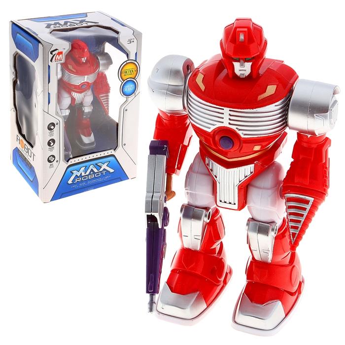 """Робот """"Космовоин"""", работает от батареек, световые и звуковые эффекты, цвета МИКС"""