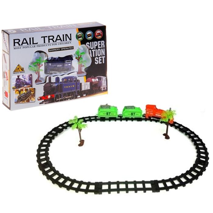"""Железная дорога """"Грузовой локомотив"""", протяжённость пути 1,2 м"""
