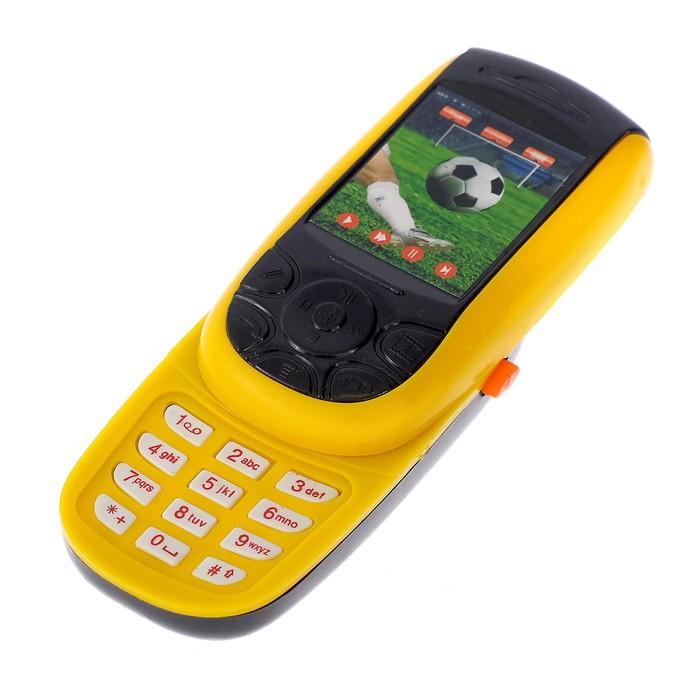 Телефон-слайдер «Футбол», звуковые эффекты, МИКС