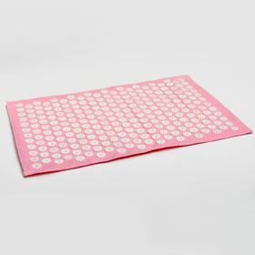 Аппликатор игольчатый «Большой коврик», 242 колючки, розовый, 41х60 см