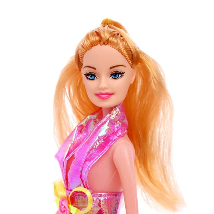 Кукла в платье, цвета МИКС