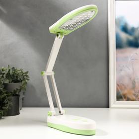 Лампа настольная 16289/1PK 25хLED 3Вт 2 режима USB АКБ бело-зеленый 17х7,5х6,5 см