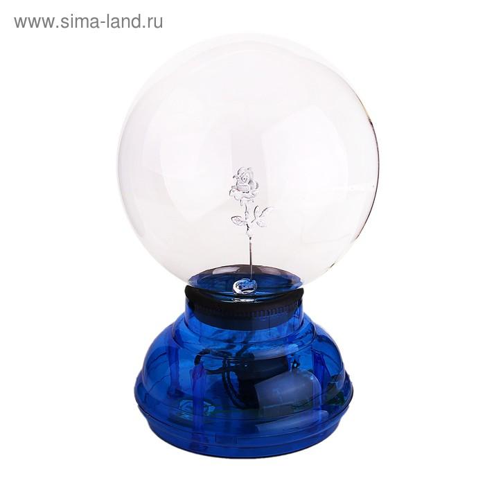 """Плазменный шар """"Роза"""", синий"""
