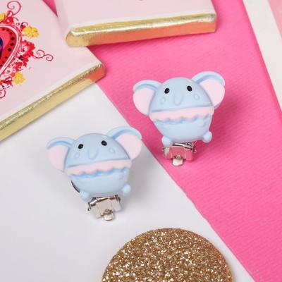 """Clip children """"Vibracula"""" elephants, the color pink-blue"""