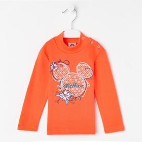 Водолазка для девочки, цвет оранжевый, рост 104 см