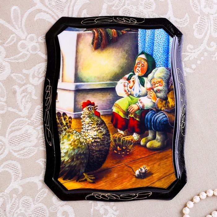Панно «Сказки», 16×22 см, лаковая миниатюра, микс