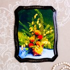 "Panel ""Flowers"", 16х22 cm, lacquered miniature, mix"